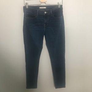 Levi's Dark Wash Super Skinny Jeans